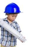 年轻男孩工程师 免版税图库摄影