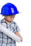 年轻男孩工程师 库存图片