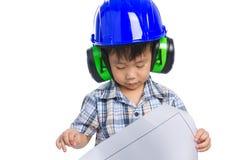 年轻男孩工程师 免版税库存图片