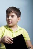 男孩带着缺席凝视 免版税图库摄影
