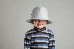 男孩帽子一点 免版税库存照片