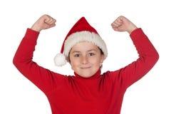 男孩帽子圣诞老人赢利地区 免版税库存图片
