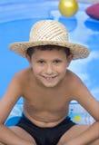 男孩帽子年轻人 免版税库存图片