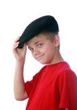 男孩帽子tippinghis 图库摄影