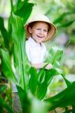 男孩徒步旅行队 图库摄影