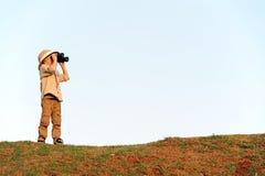 男孩徒步旅行队 免版税库存图片