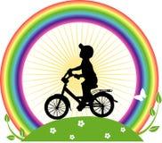 男孩循环 免版税库存图片