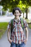 男孩微笑少年 免版税库存图片