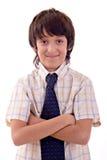 男孩微笑的年轻人 免版税库存照片
