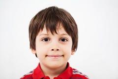 年轻男孩微笑 图库摄影