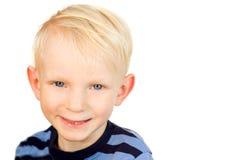 男孩微笑 免版税库存图片