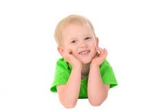男孩快乐的纵向 免版税库存图片