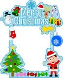 男孩快活圣诞节的框架