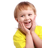 男孩惊奇的年轻人 免版税库存照片