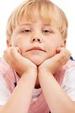 男孩愉快的学龄前儿童 免版税库存图片