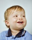 男孩愉快纵向微笑 免版税图库摄影