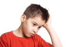 男孩担心 免版税库存照片
