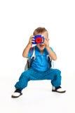 男孩摄影师 免版税库存照片
