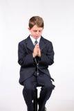 男孩教会 免版税库存图片