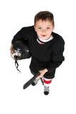 男孩曲棍球冰 免版税图库摄影