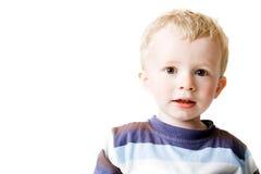 男孩查出的小孩白色 免版税库存图片
