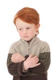 男孩查出的白色 免版税图库摄影