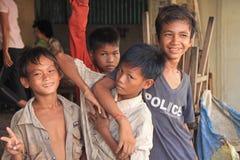 男孩柬埔语 免版税库存照片