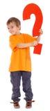 男孩标记问题 免版税库存照片