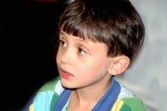 男孩棕色眼睛 库存图片
