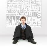 男孩概念教育图象 免版税图库摄影