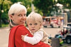 男孩母亲 免版税库存图片