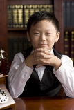 男孩汉语 免版税库存图片