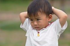 男孩沮丧 图库摄影