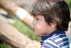 男孩注意的一点 免版税图库摄影