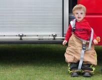 男孩消防员 免版税图库摄影