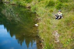 男孩渔 免版税图库摄影