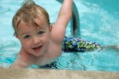 男孩游泳年轻人 库存照片