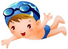 男孩游泳者 向量例证