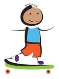 男孩溜冰板者 图库摄影