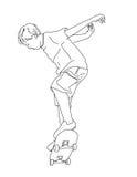 男孩溜冰板者 免版税库存图片
