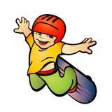男孩滑板 库存例证