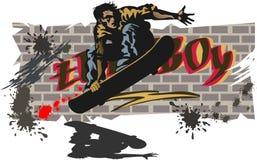 男孩滑板 库存照片
