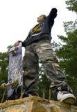 男孩滑板 库存图片