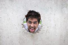 男孩滑稽的印地安人 图库摄影