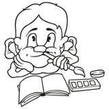男孩漫画人物滑稽的画家 免版税图库摄影