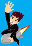 男孩火箭 免版税图库摄影