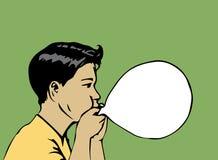 男孩爆炸气球传染媒介例证 库存图片