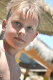 男孩特写镜头英俊的纵向年轻人 免版税图库摄影