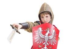 男孩狂欢节服装 免版税库存图片