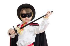 男孩狂欢节服装 免版税库存照片